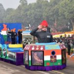 New Delhi: The Veterans' tableau of the Arms Forces during Republic Day Parade 2018 on Rajpath in New Delhi Jan 26, 2018. (Photo: IANS/PIB) by .