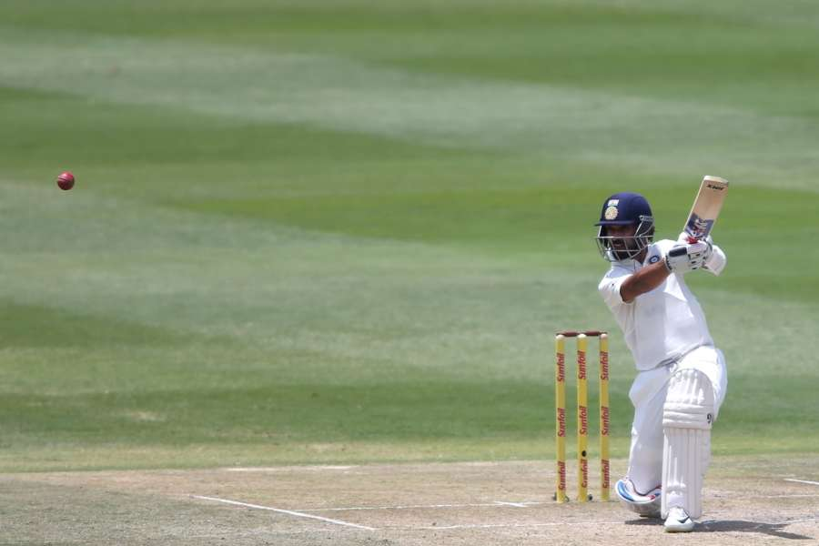 Johannesburg: Ajinkya Rahane of India in action during Day 3 of the third Test match between South Africa and India at the Wanderers Stadium in Johannesburg, South Africa on Jan 26, 2018. (Photo: BCCI/IANS) (Credit Mandatory) by .