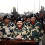 Attari: BSF DG K.K. Sharma along with other BSF officials addressing a press conference on Republic Day at Attari - Wagah international border on Jan. 26, 2018. (Photo: IANS) by .