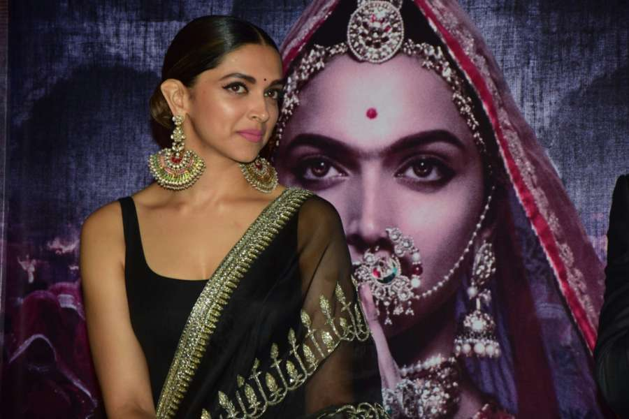 "Mumbai: Actress Deepika Padukone during the 3D trailer launch of her upcoming film ""Padmavati"" in Mumbai. (Photo: IANS) by ."