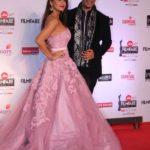 "Mumbai: Actress Preity Zinta and fashion designer Manish Malhotra at the red carpet of ""63rd Jio Filmfare Awards"" in Mumbai on Jan 20, 2018.(Photo: IANS) by ."