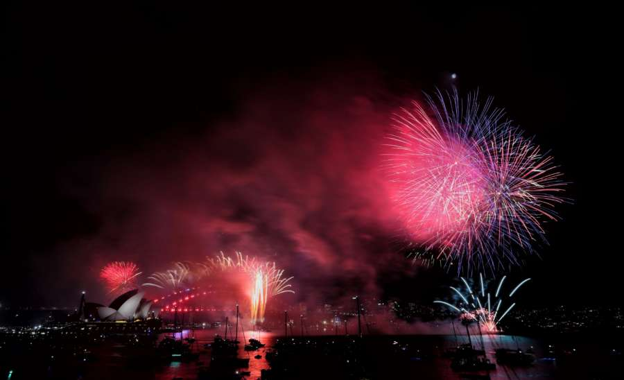 AUSTRALIA-SYDNEY-FIREWORKS-NEW YEAR by .