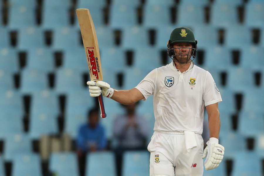 Centurion: AB de Villiers of South Africa celebrates his half century during day 3 of the second Test match between South Africa and India at the Supersport Park Cricket Ground in Centurion, South Africa on Jan 15, 2018. (Photo: BCCI/IANS) (Credit Mandatory) by .