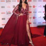 "Mumbai: Actress Pooja Hegde at the red carpet of ""63rd Jio Filmfare Awards"" in Mumbai on Jan 20, 2018.(Photo: IANS) by ."