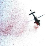 Guwahati: A helicopter showers flower petals during Republic Day 2018 celebrations in Guwahati on Jan 26, 2018. (Photo: IANS) by .