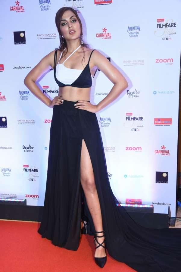 "Mumbai: Actress Rhea Chakraborty at the red carpet of ""Filmfare Glamour & Style Awards 2017"" in Mumbai on Dec 1, 2017. (Photo: IANS) by ."