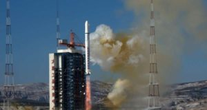 TAIYUAN, (Xinhua) -- China launches SuperView-1 03/04, a pair of 0.5-meter high-resolution remote sensing satellites, from the Taiyuan Satellite Launch Center in north China's Shanxi Province, Jan. 9, 2018. The satellites blasted off Tuesday on the back of a Long March 2D rocket. The mission aims to promote the country's commercial use of high-resolution remote sensing satellites. The satellites, which are able to provide commercial images at 0.5-meter resolution, are expected to offer remote sensing data to customers worldwide and provide services to land and resource surveys, mapping, environmental monitoring, finance and insurance as well as the Internet industry. (Xinhua/Cao Yang/IANS) by .