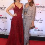 """Mumbai: Actresses Kriti Sanon and Sonakshi Sinha at the red carpet of """"Filmfare Glamour & Style Awards 2017"""" in Mumbai on Dec 1, 2017. (Photo: IANS) by ."""