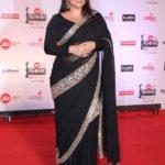 "Mumbai: Actress Vidya Balan at the red carpet of ""63rd Jio Filmfare Awards"" in Mumbai on Jan 20, 2018.(Photo: IANS) by ."