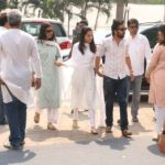 Mumbai: Actress Shraddha Kapoor along with her brother Siddhanth Kapoor at Celebration Sports Club to pay their last respects to the late actress Sridevi in Mumbai on Feb 28, 2018. After the flower-bedecked body was brought to the club premises, a steady stream of celebrities started alighting from their vehicles and were whisked inside to pay their last respects. Sridevi's body was flown to Mumbai from Dubai where she passed away around 11 pm on February 24 - following accidental drowning in a bathtub in her hotel room - and from the airport was taken to the Kapoor residence in Green Acres at the posh Lokhandwala Complex. (Photo: IANS) by .