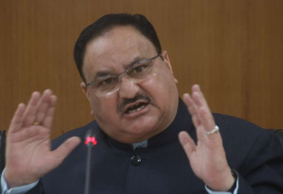 New Delhi: Union Minister for Health and Family Welfare J.P. Nadda addresses a press conference in New Delhi on Feb 2, 2018. (Photo: IANS) by .