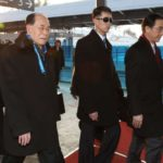 PyeongChang: Kim Yong-nam (L), North Korea's ceremonial head of state and leader of the North's high-level delegation to the PyeongChang Winter Olympics, arrives in the host city of PyeongChang, east of Seoul, on Feb. 9, 2018. He was accompanied by Kim Yo-jong, the sister of the North Korean leader, who is said to wield great power in the reclusive state and is also part of the delegation. (Yonhap/IANS) by .