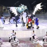 PYEONGCHANG, Feb. 9, 2018 (Xinhua) -- Artists perform during the opening ceremony of the 2018 PyeongChang Winter Olympic Games at PyeongChang Olympic Stadium in PyeongChang, South Korea, Feb. 9, 2018. (Xinhua/Ju Huanzong/IANS) by .