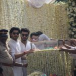 Mumbai: Actors Arjun Kapoor, Sanjay Kapoor and Mohit Marwah accompany the body of late actress Sridevi to the Vile Parle Seva Samaj Crematorium and Hindu Cemetery for cremation in Mumbai on Feb 28, 2018. (Photo: IANS) by .