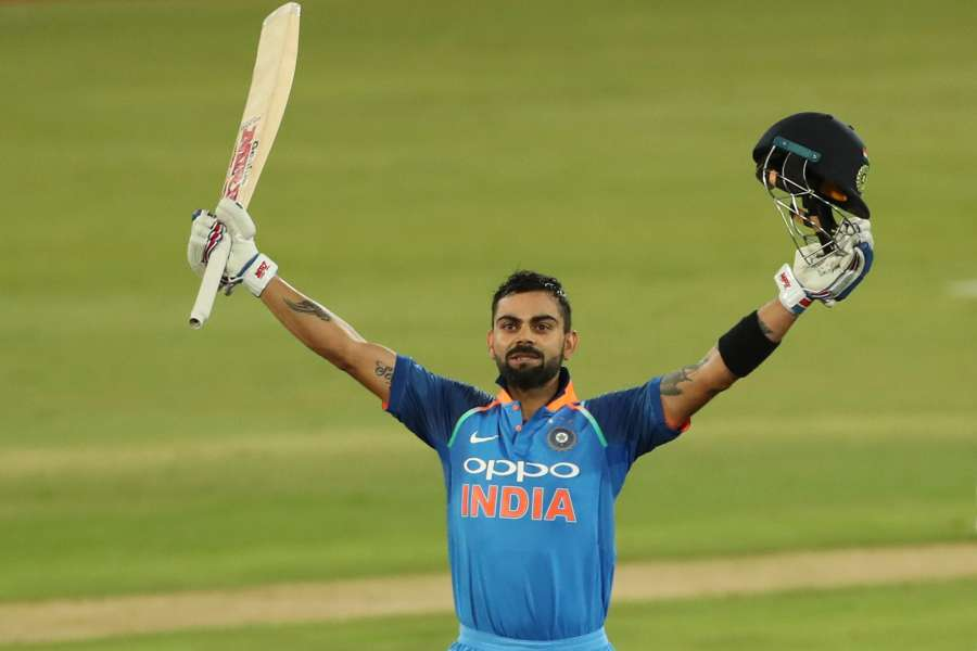 Centurion: Indian skipper Virat Kohli celebrates his century during the 6th ODI between India and South Africa at Supersport Park Cricket Ground in Centurion, South Africa on Feb 16, 2018. (Photo: BCCI/IANS) (Credit Mandatory) by .