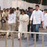 Mumbai: Actress Vidya Balan along with her husband Siddharth Roy Kapur at celebration sports club to pay their last respects to the late actress Sridevi in Mumbai on Feb 28, 2018. After the flower-bedecked body was brought to the club premises, a steady stream of celebrities started alighting from their vehicles and were whisked inside to pay their last respects. Sridevi's body was flown to Mumbai from Dubai where she passed away around 11 pm on February 24 - following accidental drowning in a bathtub in her hotel room - and from the airport was taken to the Kapoor residence in Green Acres at the posh Lokhandwala Complex. (Photo: IANS) by .
