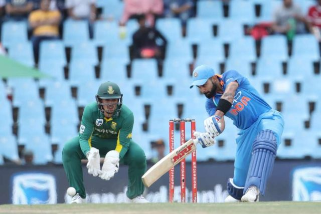 Centurion: Indian skipper Virat Kohli in action during the 2nd ODI match between India and South Africa at Supersport Park Cricket Ground in Centurion, South Africa on Feb 4, 2018. (Photo: BCCI/IANS) (Credit Mandatory) by .