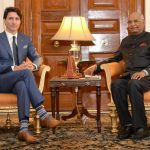 New Delhi: Canadian Prime Minister Justin Trudeau calls on President Ram Nath Kovind at Rashtrapati Bhavan in New Delhion Feb 23, 2018. (Photo: IANS/RB) by .