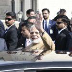 Ramallah: Prime Minister Narendra Modi arrives at Ramallah, Palestine on Feb 10, 2018. (Photo: IANS/PIB) by .