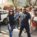 Mumbai: Actress Ameesha Patel at actor Anil Kapoor's residence to meet the grief struck Kapoor family after sudden demise of actress Sridevi, in Mumbai on Feb 26, 2018. Veteran actress Sridevi passed away on Saturday night after suffering a cardiac arrest. She was 54. The actress was in Dubai to attend the marriage function of actress Sonam Kapoor's cousin Mohit Marwah, along with husband Boney Kapoor and younger daughter Khushi Kapoor. (Photo: IANS) by .