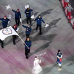 PYEONGCHANG, Feb. 9, 2018 (Xinhua) -- Delegation of Chinese Taipei enter the stadium during the opening ceremony of the 2018 PyeongChang Winter Olympic Games held at PyeongChang Olympic Stadium, South Korea, Feb. 9, 2018. (Xinhua/Bi Xiaoyang/IANS) by .