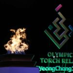 Gangneung: The PyeongChang Olympic torch is lit at the municipal government building in Gangneung, Gangwon Province, on Feb. 8, 2018, one day ahead of the opening of the Olympic Games in nearby PyeongChang. (Yonhap/IANS) by .