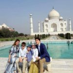 Agra: Canadian Prime Minister Justin Trudeau and his wife Sophie Grégoire Trudeau visit the Taj Mahal along with their children Ella-Grace Margaret Trudeau, Xavier James Trudeau and Hadrien Trudeau, in Agra on Feb 18, 2018. (Photo: IANS) by .