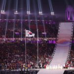 PYEONGCHANG, Feb. 9, 2018 (Xinhua) -- National flag of South Korea is raised during the opening ceremony of the 2018 PyeongChang Winter Olympic Games held at PyeongChang Olympic Stadium, South Korea, Feb. 9, 2018. (Xinhua/Fei Maohua/IANS) by .