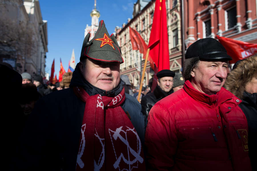 RUSSIA-MOSCOW-DEFENDER OF THE FATHERLAND DAY-PARADE by .