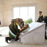 Ramallah: Prime Minister Narendra Modi lays a wreath at the Mausoleum of late President Yasser Arafat in Ramallah, Palestine on Feb 10, 2018. (Photo: IANS/PIB) by .