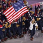 PYEONGCHANG, Feb. 9, 2018 (Xinhua) -- Delegation of United States enter the stadium during the opening ceremony of the 2018 PyeongChang Winter Olympic Games held at PyeongChang Olympic Stadium, South Korea, Feb. 9, 2018. (Xinhua/Fei Maohua/IANS) by .