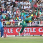 Johannesburg: Dala of South Africa in action during the 1st T20 International match between South Africa and India at the Wanderers Stadium in Johannesburg, South Africa on Feb 18, 2018. (Photo: BCCI/IANS) (Credit Mandatory) by .