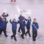 PYEONGCHANG, Feb. 9, 2018 (Xinhua) -- Delegation of Chinese Taipei enter the stadium during the opening ceremony of the 2018 PyeongChang Winter Olympic Games held at PyeongChang Olympic Stadium, South Korea, Feb. 9, 2018. (Xinhua/Fei Maohua/IANS) by .