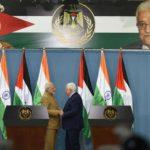 Ramallah: Prime Minister Narendra Modi and Palestine President Mahmoud Abbas at the joint press meet in Ramallah, Palestine on Feb 10, 2018. (Photo: IANS/PIB) by .