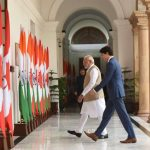 New Delhi: Prime Minister Narendra Modi with Canadian Prime Minister Justin Trudeau during a meeting at Hyderabad House, in New Delhi on Feb 23, 2018. (Photo: IANS/PIB) by .