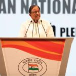 New Delhi: Congress leader P Chidambaram addresses during the 84th plenary session of Indian National Congress at the Indira Gandhi Indoor Stadium in New Delhi on March 18, 2018. (Photo: IANS) by .