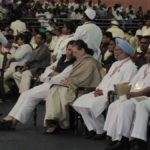 New Delhi: Congress leaders Rahul Gandhi, Sonia Gandhi, Manmohan Singh and A. K. Antony during the 84th plenary session of Indian National Congress at the Indira Gandhi Indoor Stadium in New Delhi on March 17, 2018. (Photo: IANS) by .