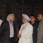 New Delhi: Congress leaders Sam Pitroda and Manmohan Singh during the 84th plenary session of Indian National Congress at the Indira Gandhi Indoor Stadium in New Delhi on March 17, 2018. (Photo: IANS) by .