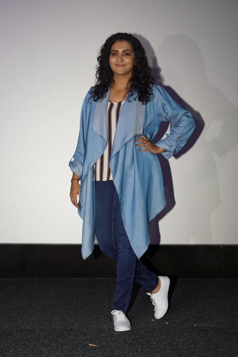 "Mumbai: Actress Parvathy at the special screening of film ""Qarib Qarib Singlle"" in Mumbai on Nov 10, 2017.(Photo: IANS) by ."