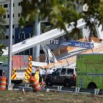"MIAMI, March 15, 2018 (Xinhua) -- Police and first responders work on the scene at the footbridge collapse site in Miami, Florida, the United States, March 15, 2018. A pedestrian footbridge near Florida International University (FIU) collapsed Thursday afternoon, causing ""several fatalities,"" local authorities said. (Xinhua/Monica McGivern/IANS) by ."