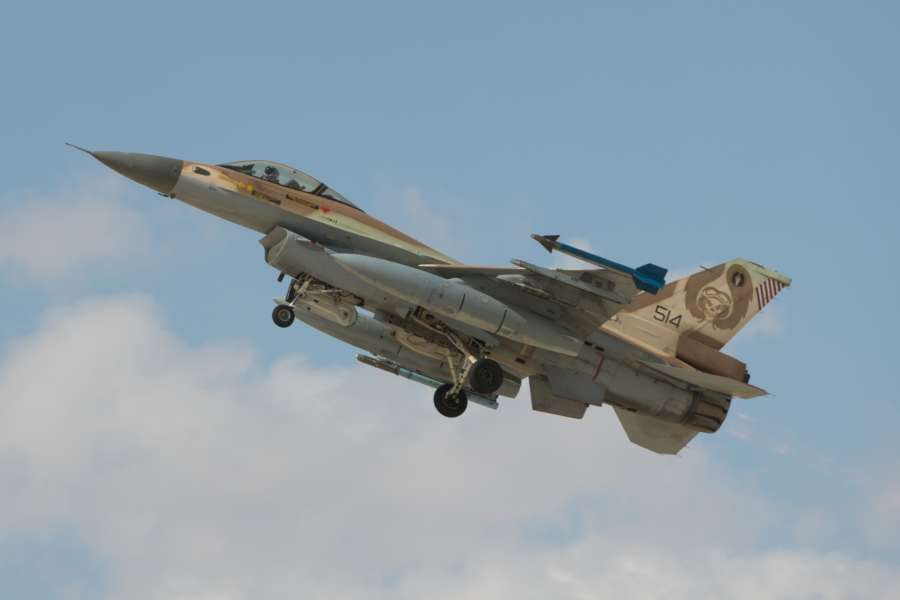 UVDA AIR BASE, Nov. 10, 2017 (Xinhua) -- An Israeli F-16 jet fighter takes off from the Uvda air base during an international air force exercise in Israel, on Nov. 8, 2017. Hundreds of pilots from eight different countries gathered recently in Israel's Uvda air base to join the largest international air force exercise ever conducted in the country. (Xinhua/Guo Yu/IANS) by .