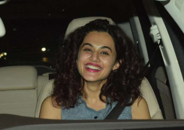 Mumbai: Actress Taapsee Pannu at the special screening of film