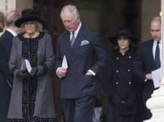 LONDON, Dec. 14, 2017 (Xinhua) -- Prince Charles (2nd L, Front) and his wife Camilla (1st L, Front) leave the Grenfell tower National Memorial Service at St. Paul's Cathedral in London, Britain, on Dec. 14, 2017. A grand memorial service was held Thursday here for the victims of the Grenfell tower fire that claimed 71 lives on June 14. (Xinhua/IANS) by .