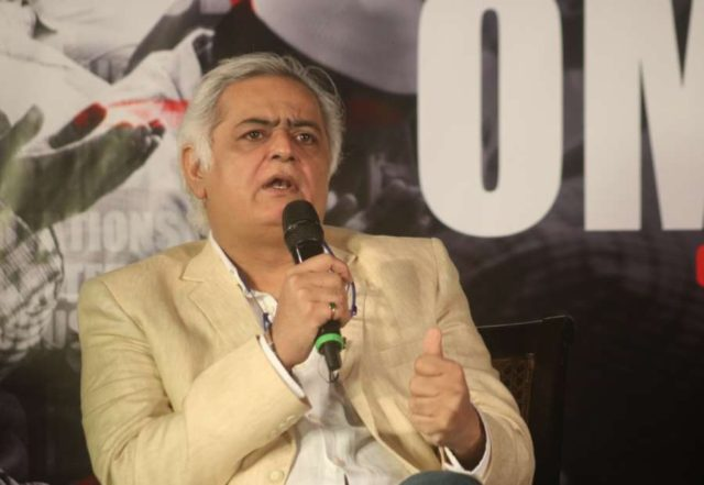 New Delhi: Director Hansal Mehta addresses during the trailer launch of his upcoming film