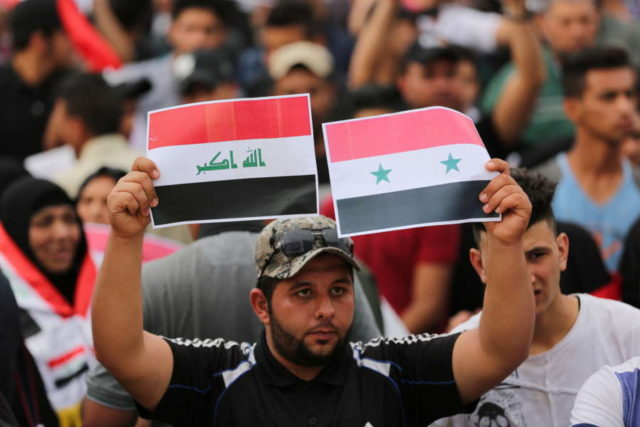 IRAQ-BAGHDAD-SYRIA-U.S.-LED ATTACKS-PROTEST by .