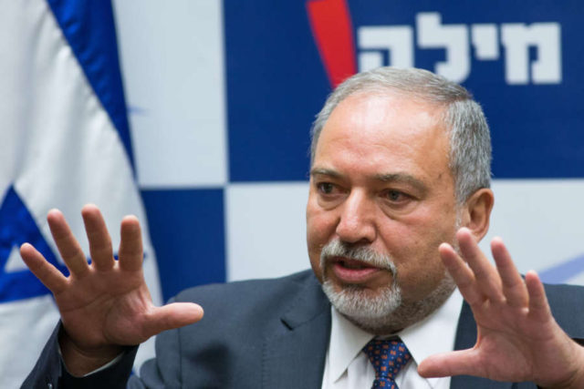 ISRAEL-COALITION GOVERNMENT-AVIGDOR LIBERMAN by .