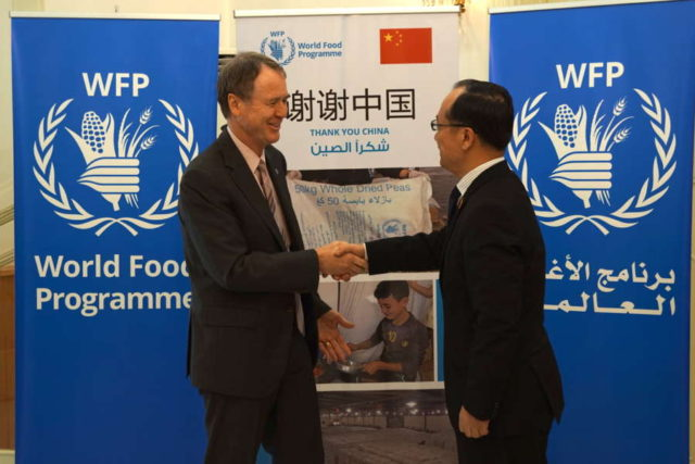 SYRIA-DAMASCUS-CHINA-WFP-DONATION by .