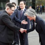 Panmunjom: North Korean leader Kim Jong-un (L) shakes hands with South Korean Foreign Minister Kang Kyung-hwa ahead of a landmark summit with South Korean President Moon Jae-in at the truce village of Panmunjom on April 27, 2018.(Yonhap/IANS) by .
