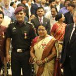 New Delhi: Cricketer MS Dhoni and billiards player Pankaj Advani during a Civil Investiture Ceremony at Rashtrapati Bhavan on April 2, 2018. Both Advani and Dhoni have been conferred with Padma Bhushan. (Photo: Amlan Paliwal/IANS) by .