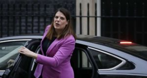 LONDON, Jan. 10, 2018 (Xinhua) --Caroline Nokes, Britain's immigration minister, arrives for the first cabinet meeting of the year, following yesterday's cabinet reshuffle, at 10 Downing Street, in London, Britain, on Jan. 9, 2018. (Xinhua/Tim Ireland/IANS) by .